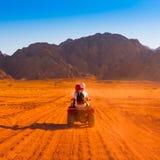 Safari Egypte de moto images libres de droits