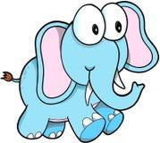 Safari Elephant Vector Foto de archivo libre de regalías