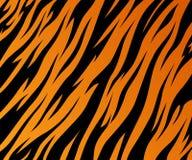 Safari för djungel för svart för band för päls för modelltexturtiger orange royaltyfri illustrationer