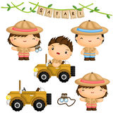 Safari Forest Kids Vector Set Royalty Free Stock Image