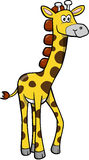 Safari Giraffe Vector. Wild Safari Giraffe Vector Illustration Royalty Free Stock Photos