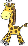 Safari Giraffe Vector Illustration Royalty Free Stock Photos