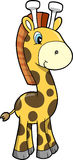 Safari Giraffe Vector Illustration Stock Images