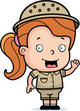 Safari Girl Royalty Free Stock Photo