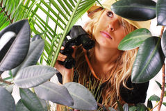 Safari Girl Stock Photo