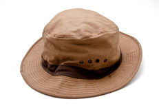 Safari Hat. First flat white background royalty free stock image