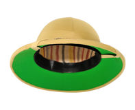 Safari hat. Isolated on white backfround royalty free stock image
