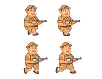 Safari Hunter Animation Sprite Fotografie Stock