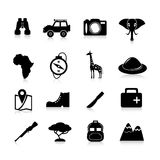 Safari Icons Black Illustrazione di Stock