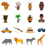 Safari Icons Set Royalty Free Stock Photos