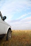 Safari by jeep. Stop for a rest Stock Images