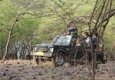 Safari jeep in zone 4 of Ranthambore park Stock Photos
