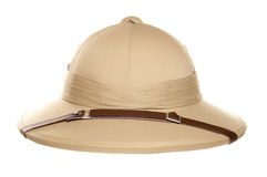 Safari jungle hat. Studio cutout royalty free stock images