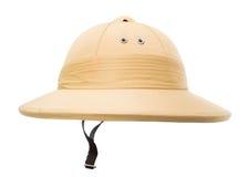 Safari kapelusz odizolowywający na bielu Fotografia Stock