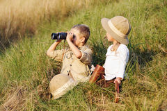 Safari kids Royalty Free Stock Image