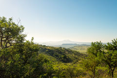 Safari landscape of South Africa. Scenery at Nambiti game reserve, Ladysmith, South Africa Stock Image
