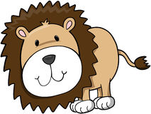 Safari Lion. Cute Safari Lion Vector Illustration Stock Image