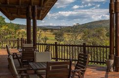 Safari lodge. Luxury safari lodge in the African savanna Royalty Free Stock Images