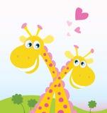 Safari love. Two funny giraffes in love. Vector Illustration. See similar pictures in my portfolio royalty free illustration