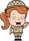 Safari-Mädchen Lizenzfreies Stockfoto