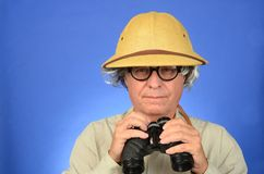 Safari Man Stock Photo