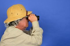 Safari Man Stock Photography