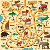 Safari maze game Stock Images