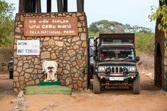 safari Parque nacional de Yala Sri Lanka Imagens de Stock