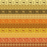 Safari pattern on striped background Royalty Free Stock Photo