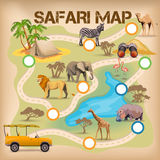 Safari Poster For Game Royalty Free Stock Image
