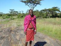 Safari przewdonik w Maasai Mara Zdjęcie Royalty Free