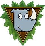 Safari Rhino. A rhinoceros with a safari background Stock Image