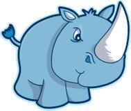 Safari Rhino Vector. Blue Safari Rhino Vector Illustration Royalty Free Stock Photography
