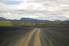 Safari road in Iceland. Royalty Free Stock Image
