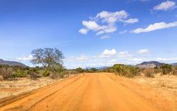 Safari road in Kenya stock images