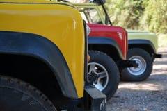 Safari samochody obrazy stock