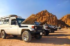Safari sur des jeeps Images libres de droits