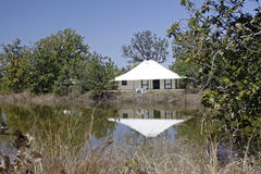 Safari Tent. Luxury safari tent at Tuli Tiger Corridor, Pench, India Royalty Free Stock Images