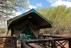 Safari tent. In savannah in South Africa Stock Images