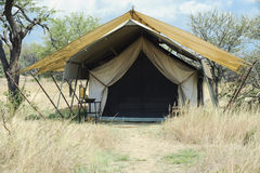 Safari tent - basic Stock Images