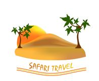 Safari travel, cdr vector Stock Images