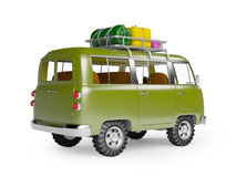 Safari van with roofrack back Royalty Free Stock Images