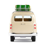 Safari van with roofrack back Royalty Free Stock Photo