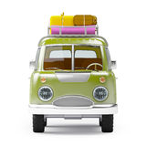 Safari van with roofrack front Royalty Free Stock Photos