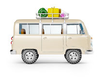 Safari van with roofrack side view Stock Photos