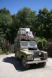 Safari Vehicle. An expedition vehicle loaded for a safari Royalty Free Stock Images