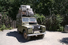 Safari Vehicle. An expedition vehicle loaded for a safari Royalty Free Stock Photos