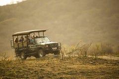 Safari Vehicle on Drive Royalty Free Stock Images
