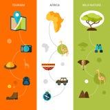 Safari Vertical Banners Fotografia Stock Libera da Diritti
