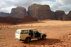 Safari in the Wadi Rum Royalty Free Stock Photography